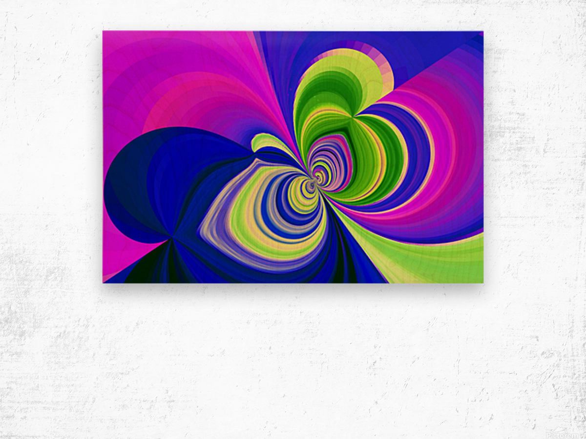PSYCHEDELIC BUTTERFLY 2 Wood print