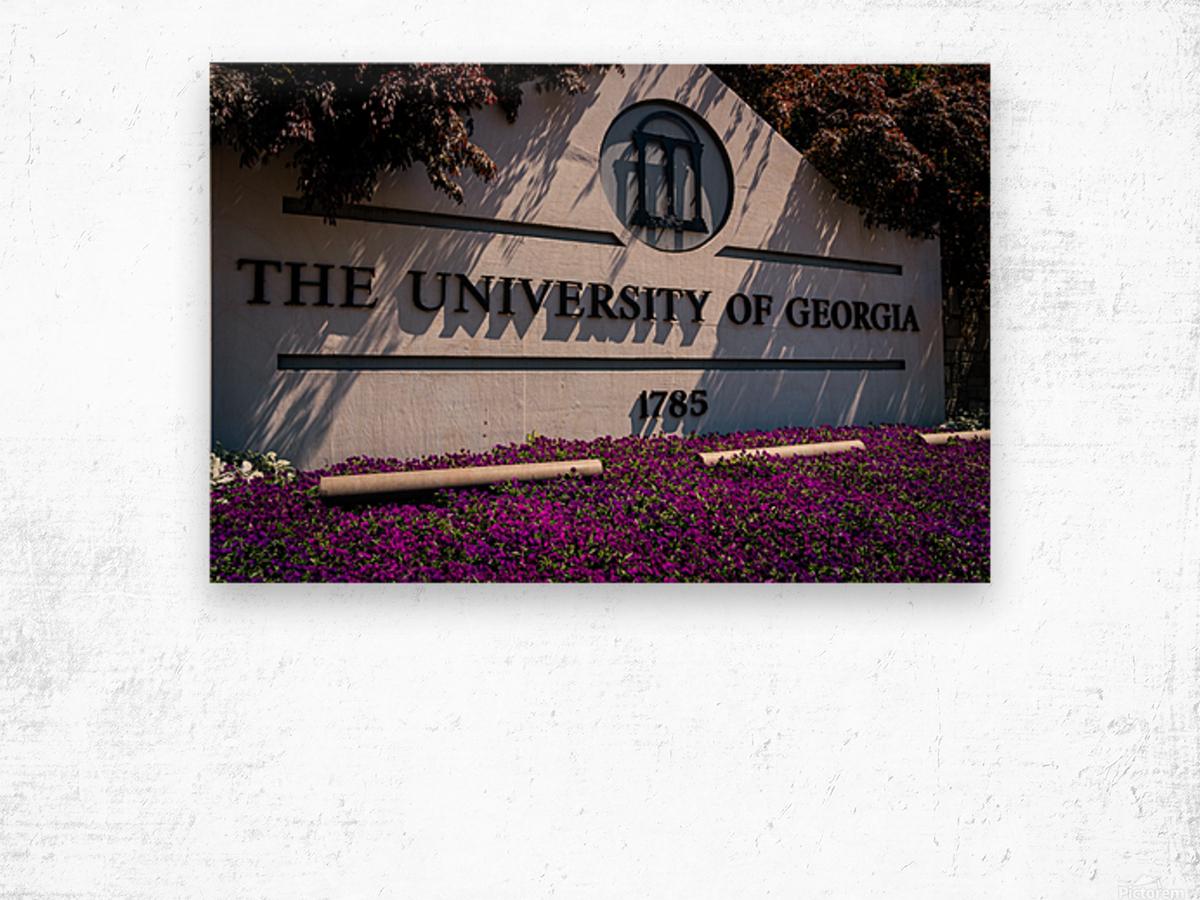University of Georgia   Athens GA 07037 Wood print