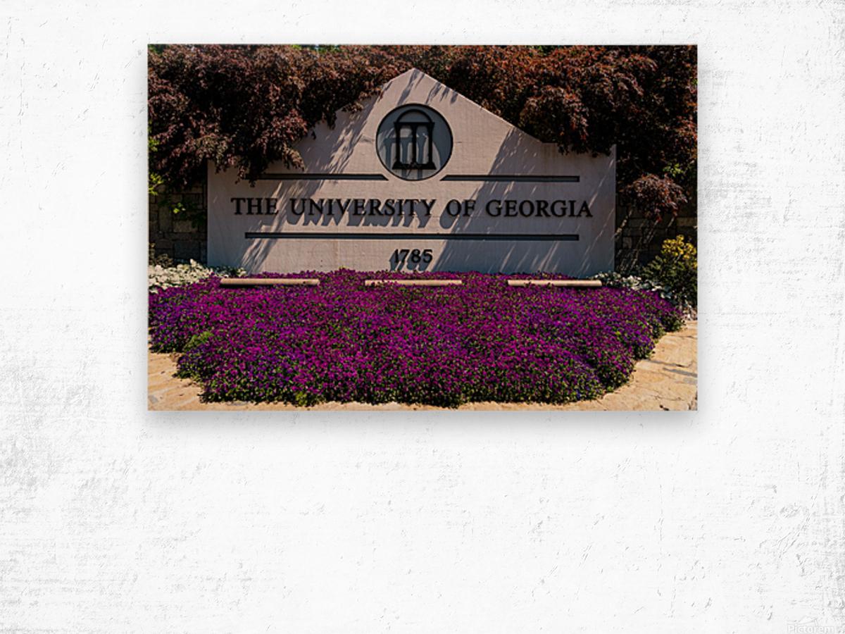 University of Georgia   Athens GA 07028 Wood print