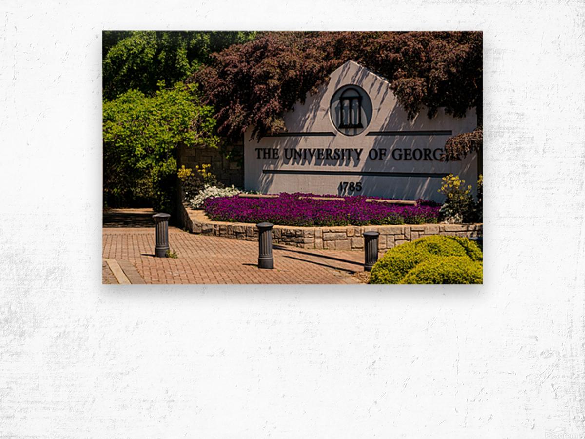 University of Georgia   Athens GA 07074 Wood print