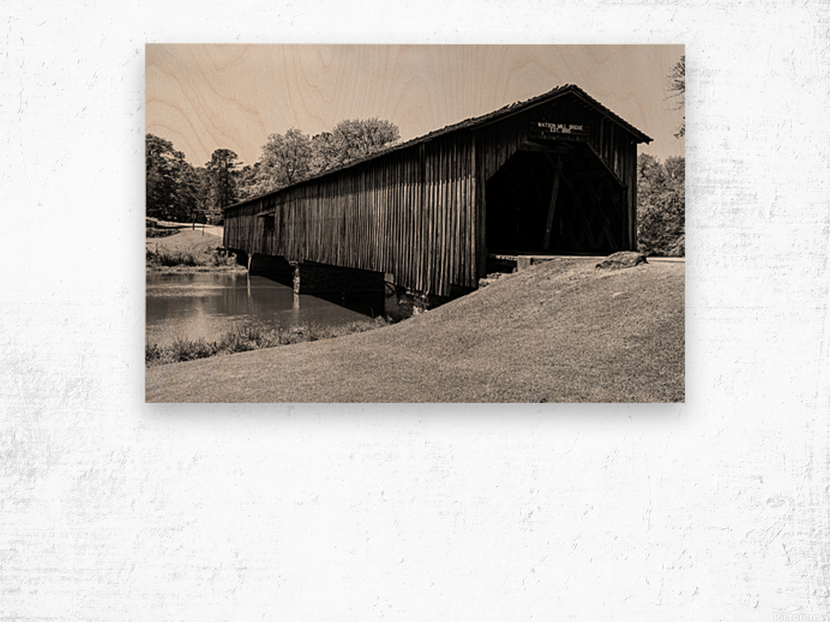 Watson Mill Bridge State Park   Comer GA 06587 Wood print