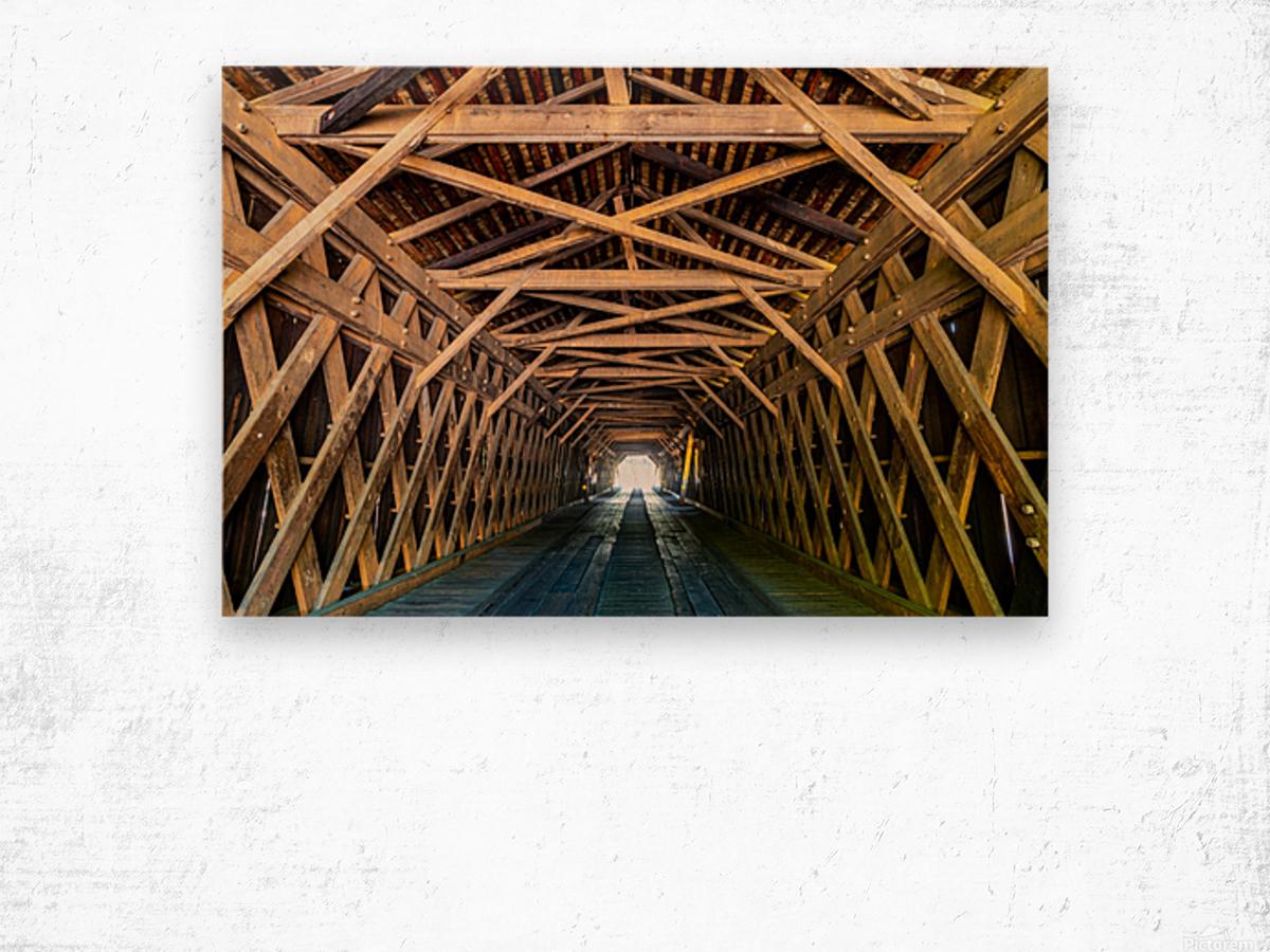 Watson Mill Bridge State Park   Comer GA 06956 Wood print