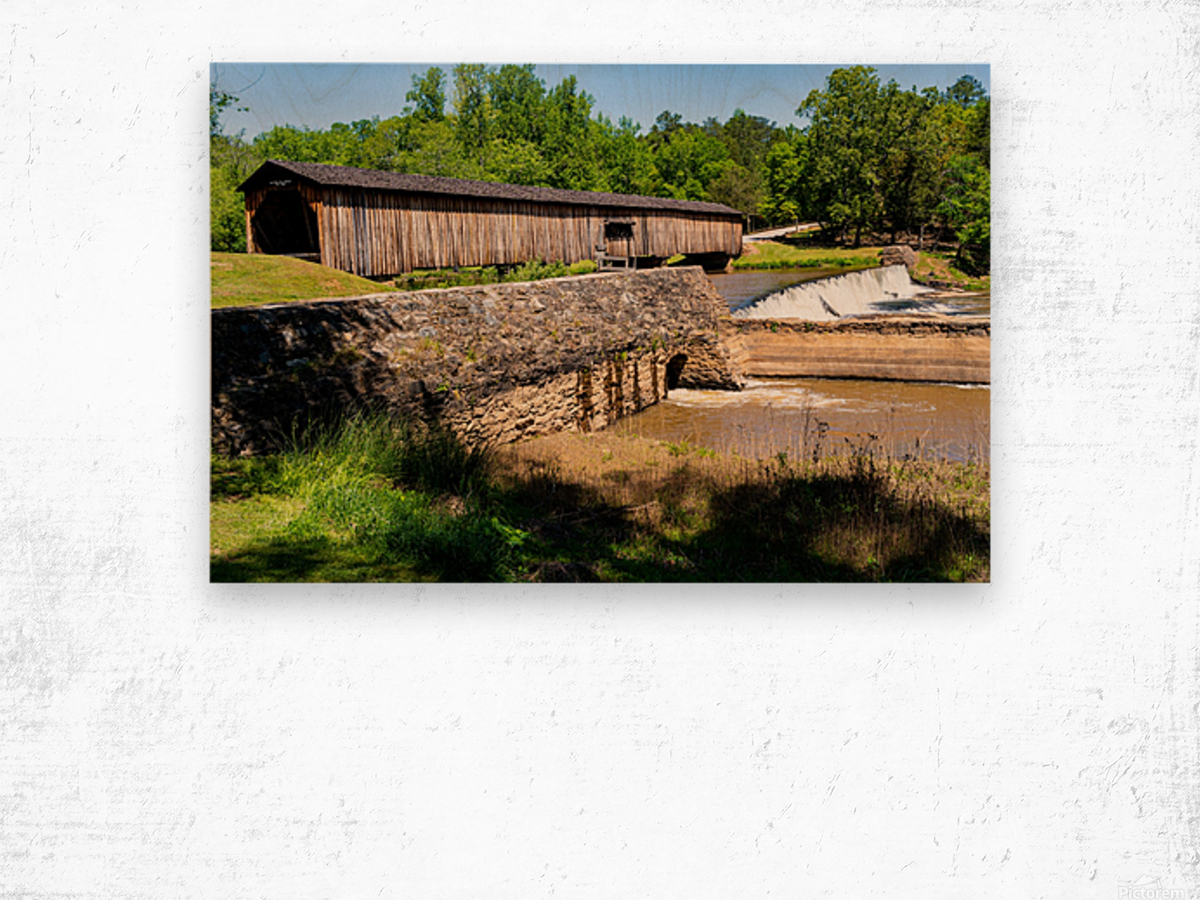 Watson Mill Bridge State Park   Comer GA 06576 Wood print