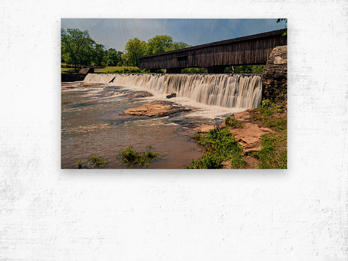 Watson Mill Bridge State Park   Comer GA 06914 Wood print
