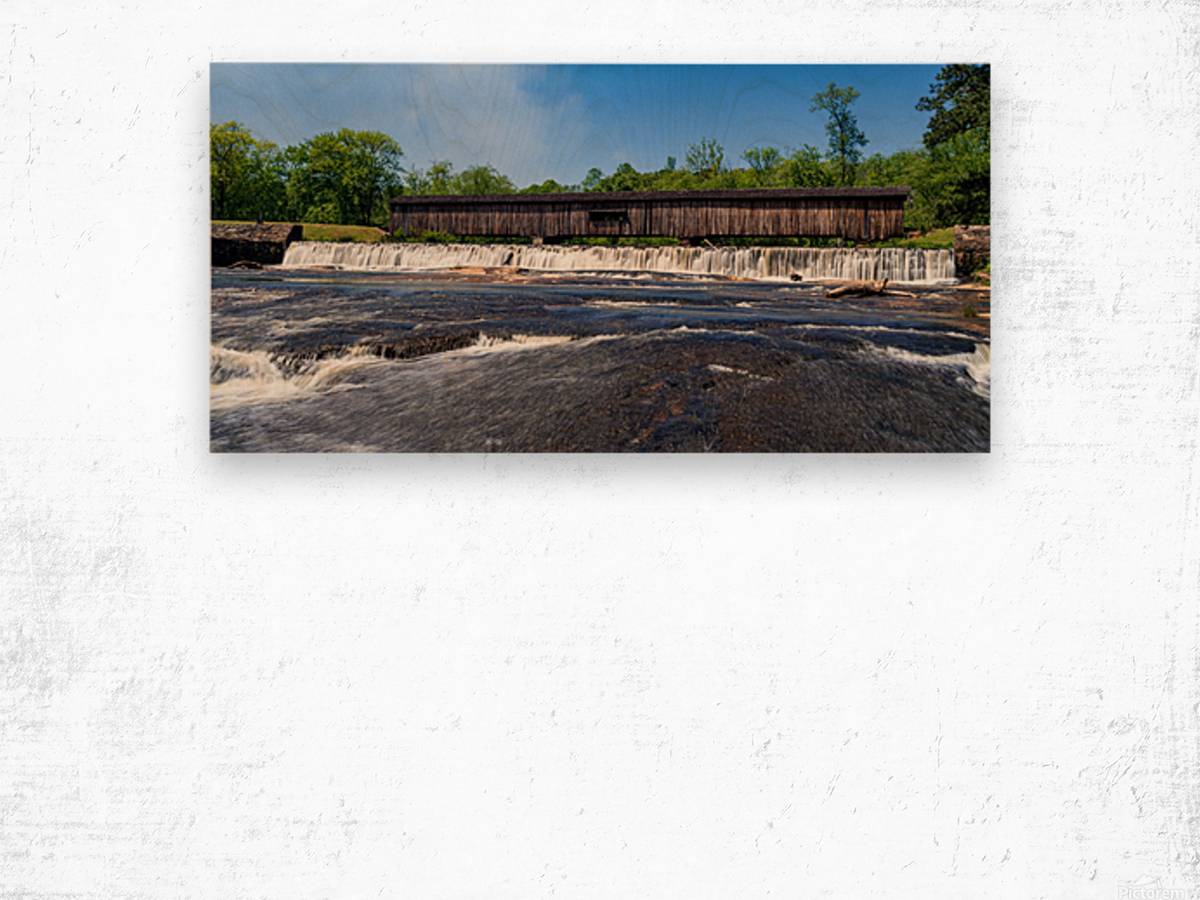 Watson Mill Bridge State Park   Comer GA 06668 Wood print