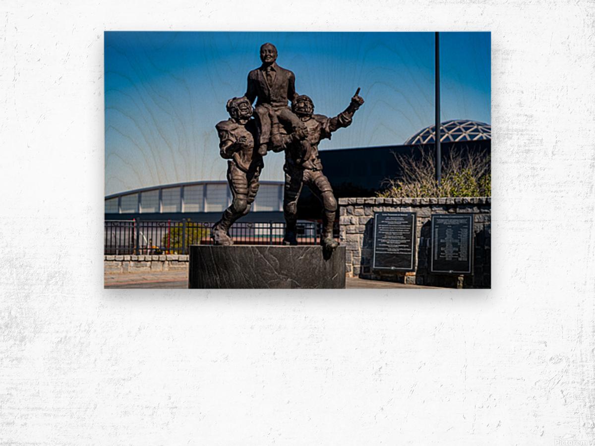 Vince Dooley Statue University of Georgia   Athens GA 07164 Wood print