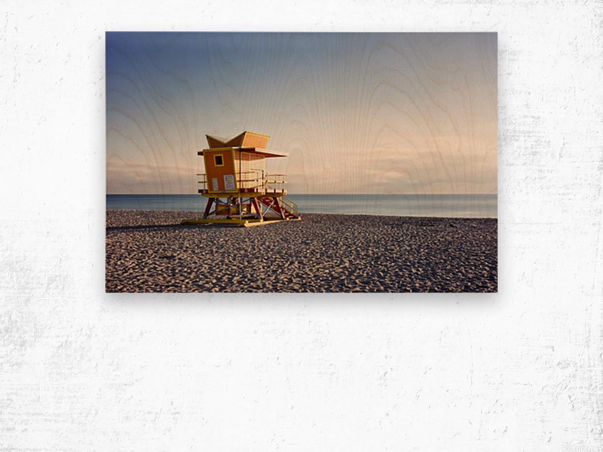 Miami Beach 058 Wood print