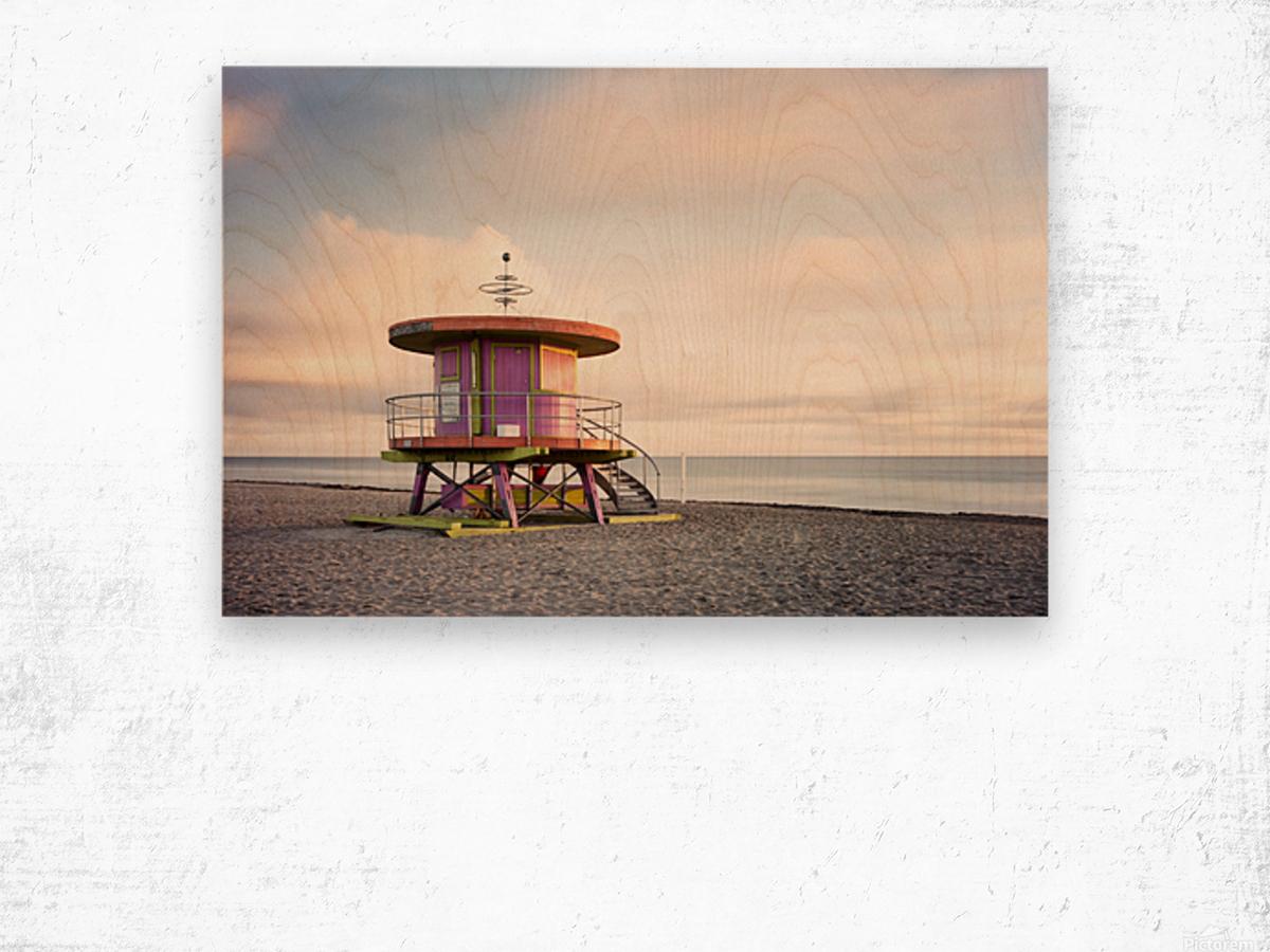 Miami Beach 028 Wood print
