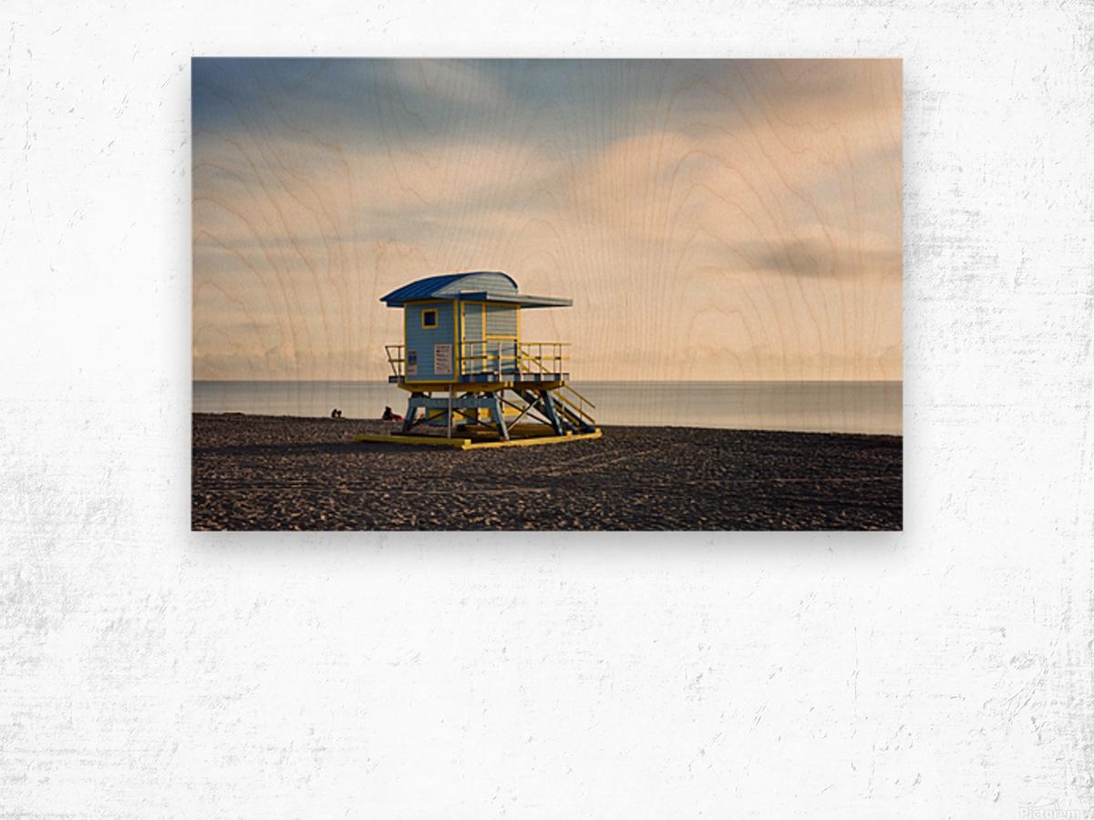 Miami Beach 030 Wood print