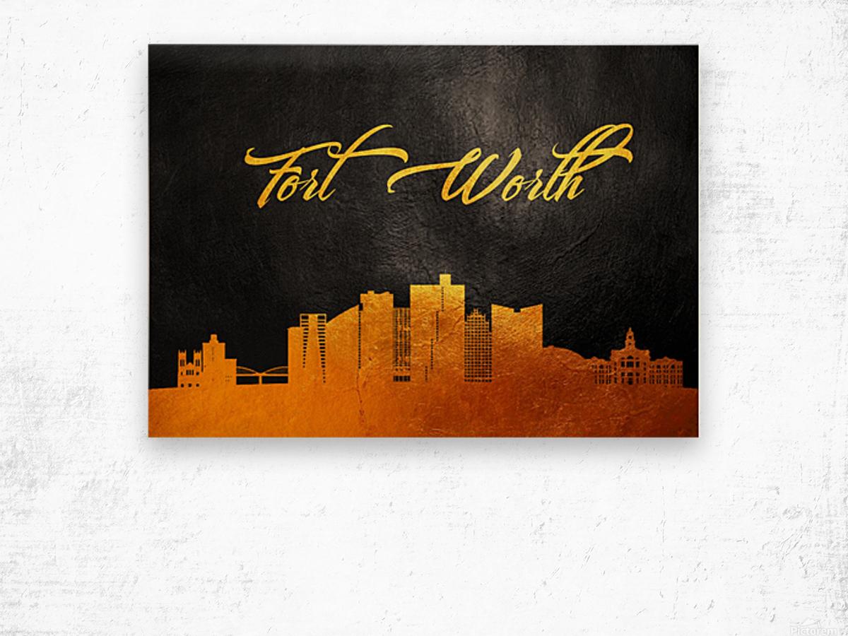 Fort Worth Texas Skyline Wall Art Wood print