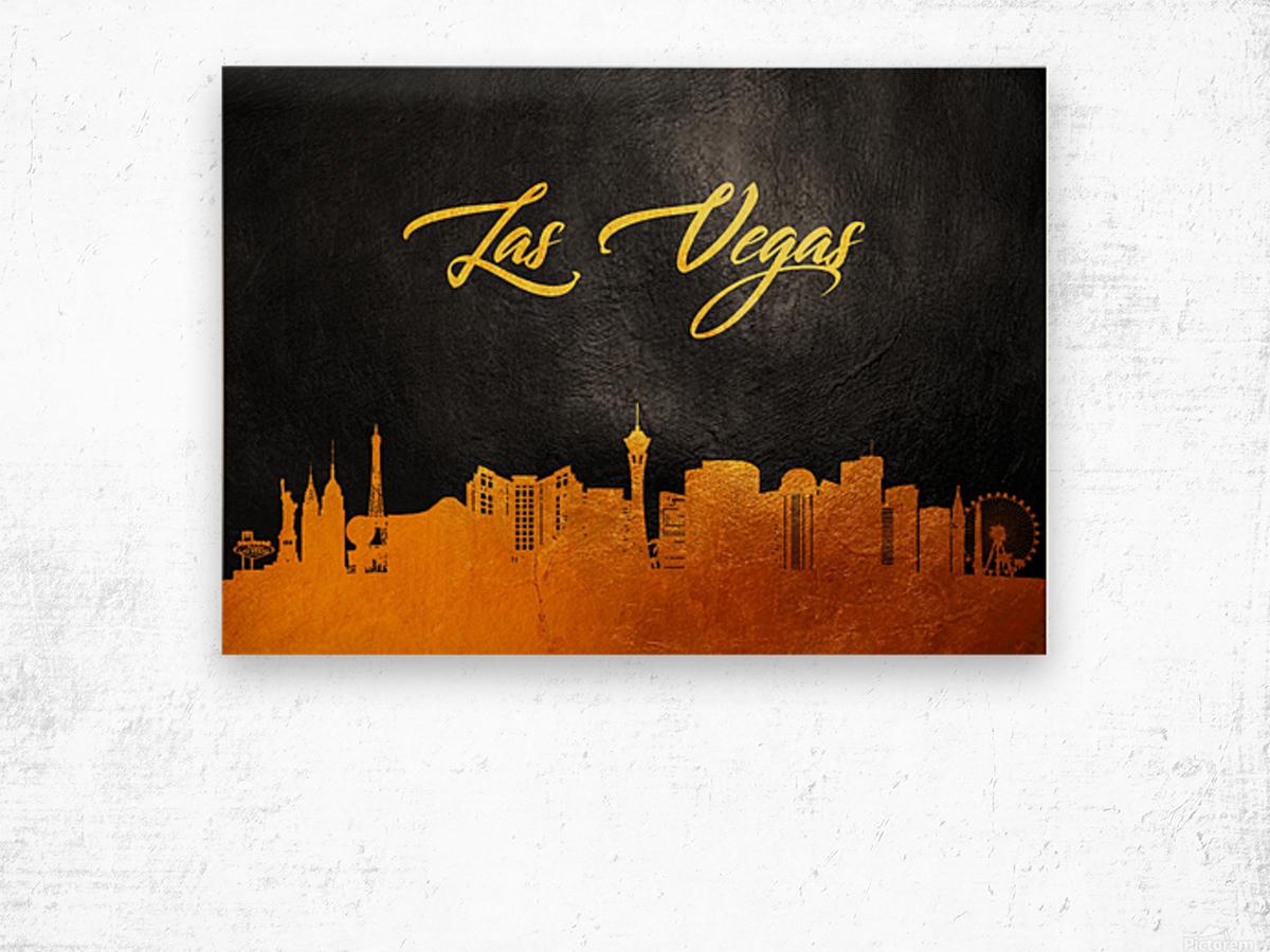 Las Vegas Nevada Skyline Wall Art Wood print