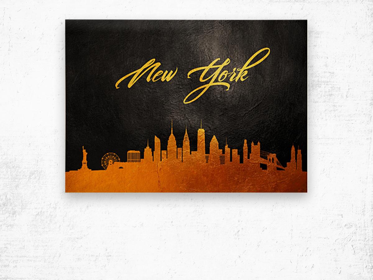 New York New York Skyline Wall Art Wood print