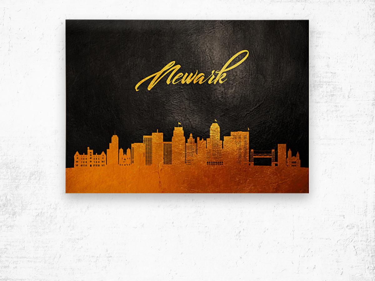 Newark New Jersey Skyline Wall Art Wood print