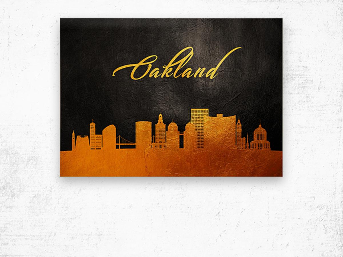Oakland California Skyline Wall Art Wood print