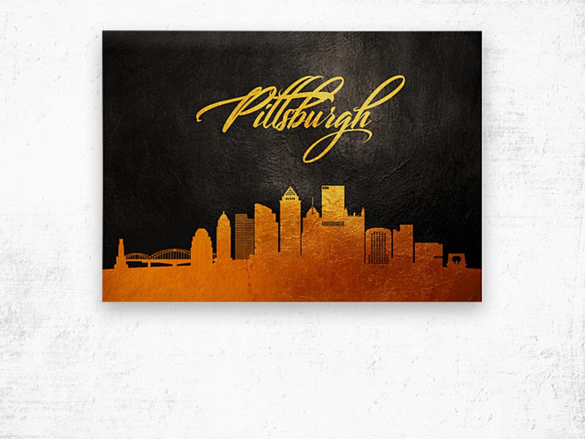 Pittsburgh Pennsylvania Skyline Wall Art Wood print