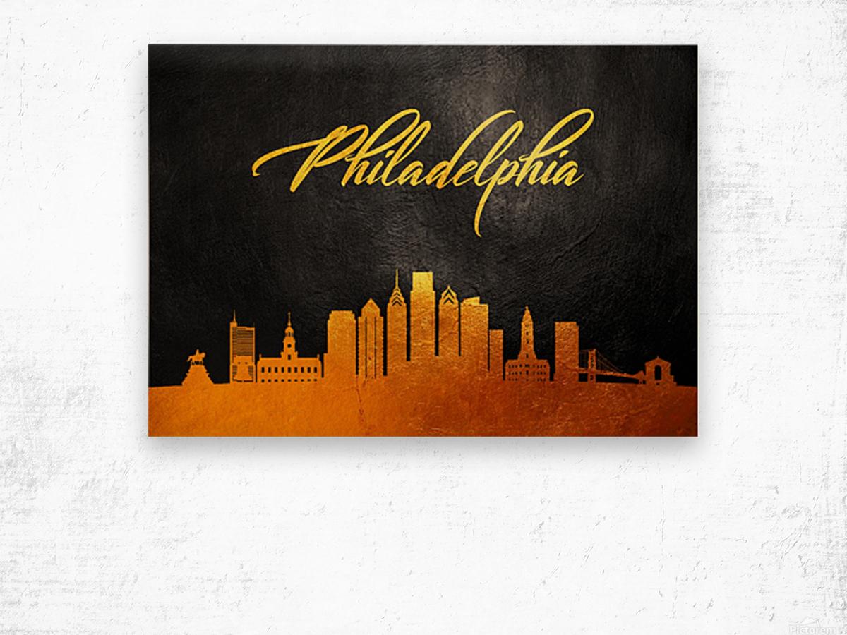 Philadelphia Pennsylvania Skyline Wall Art Wood print