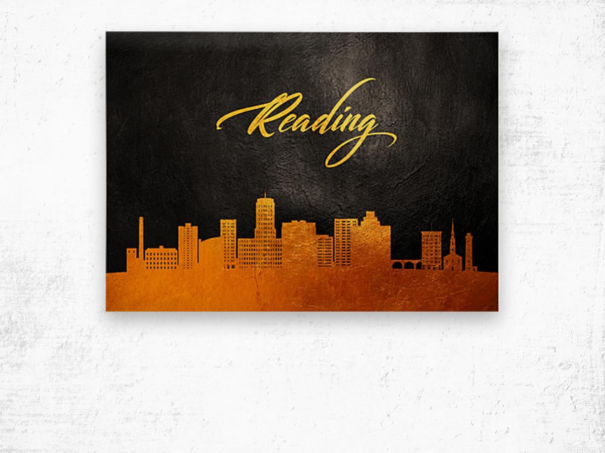 Reading Pennsylvania Skyline Wall Art Wood print