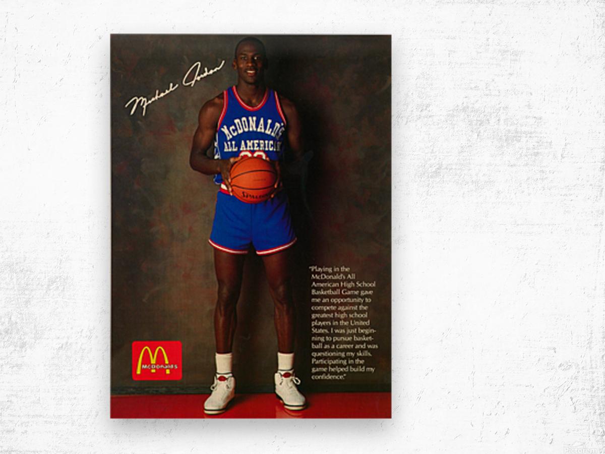 1987 McDonalds Michael Jordan Ad Poster Wood print