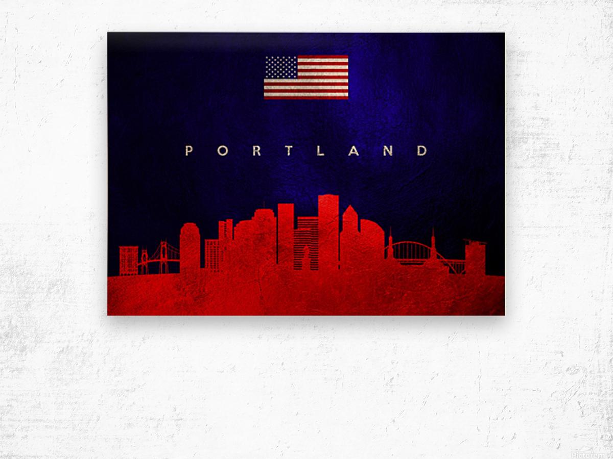 Portland Oregon Skyline Wall Art Wood print