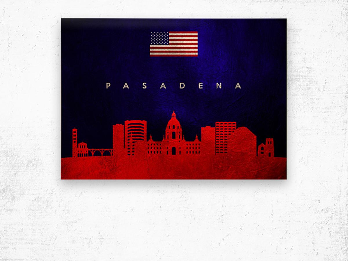 Pasadena California Skyline Wall Art Wood print