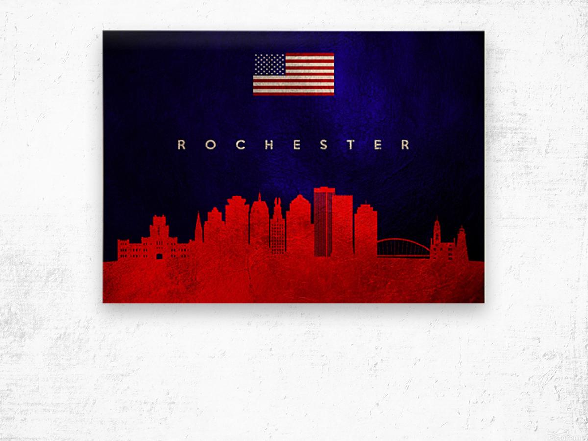Rochester New York Skyline Wall Art Wood print