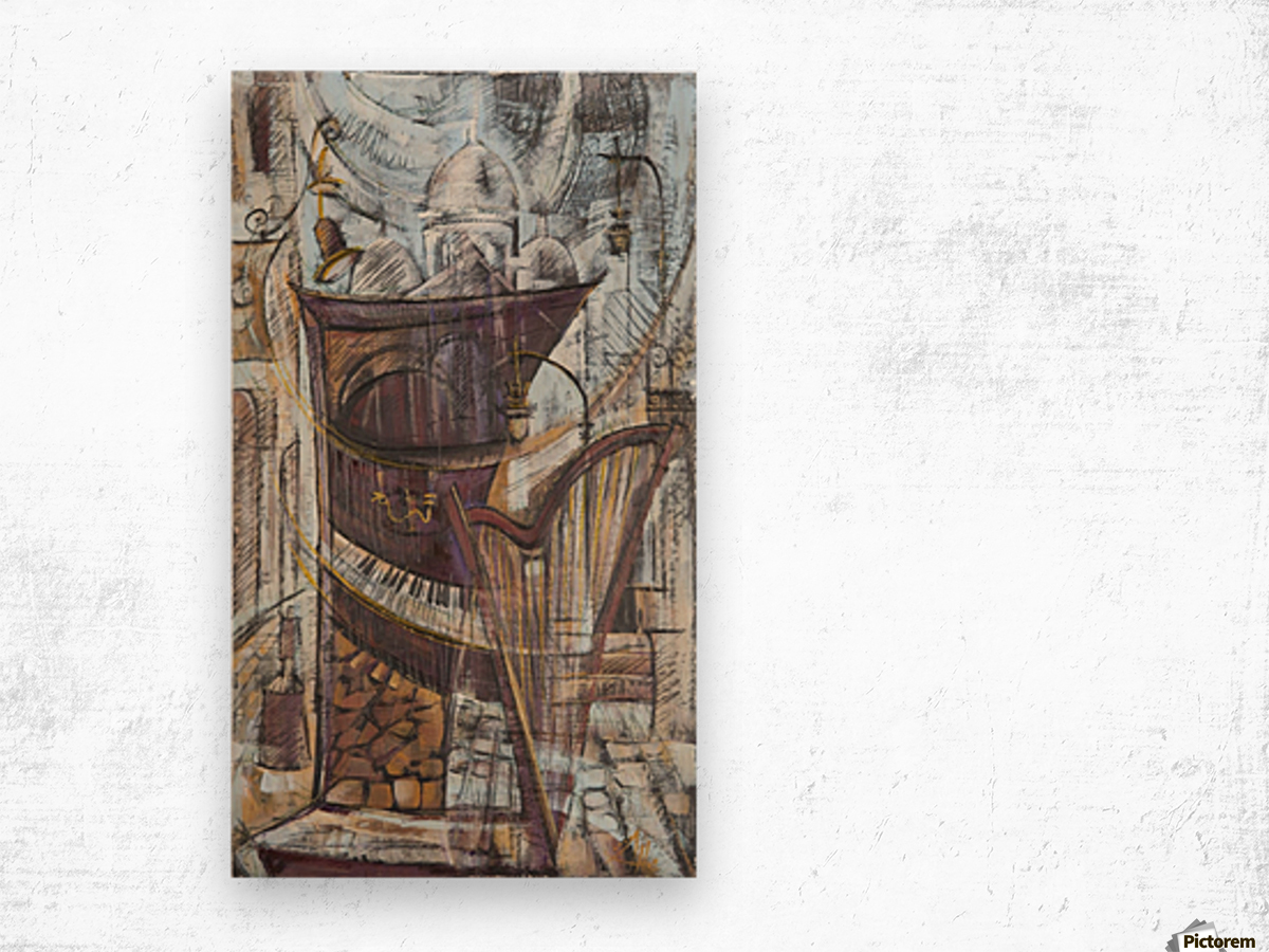 From the series of: Cities of the World Wood print