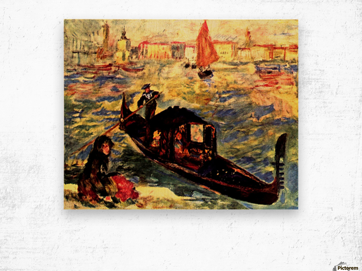 Gondola on the Canale Grande Wood print