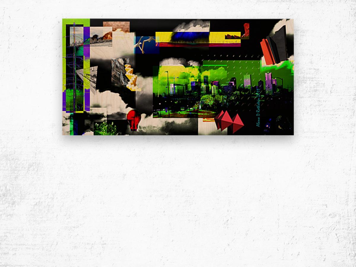 URBAN DENVER 2011 Wood print