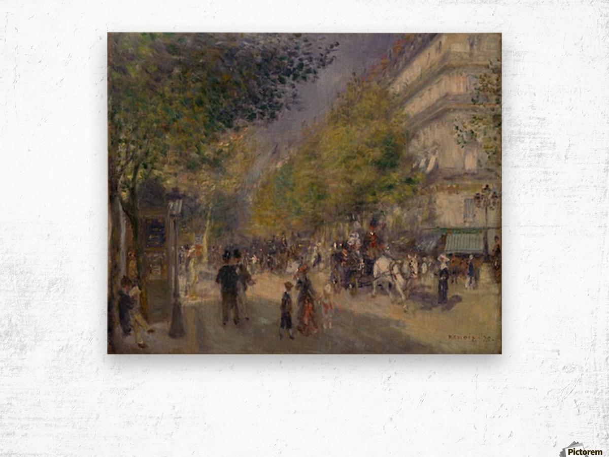 Grande Boulevards by Renoir Wood print