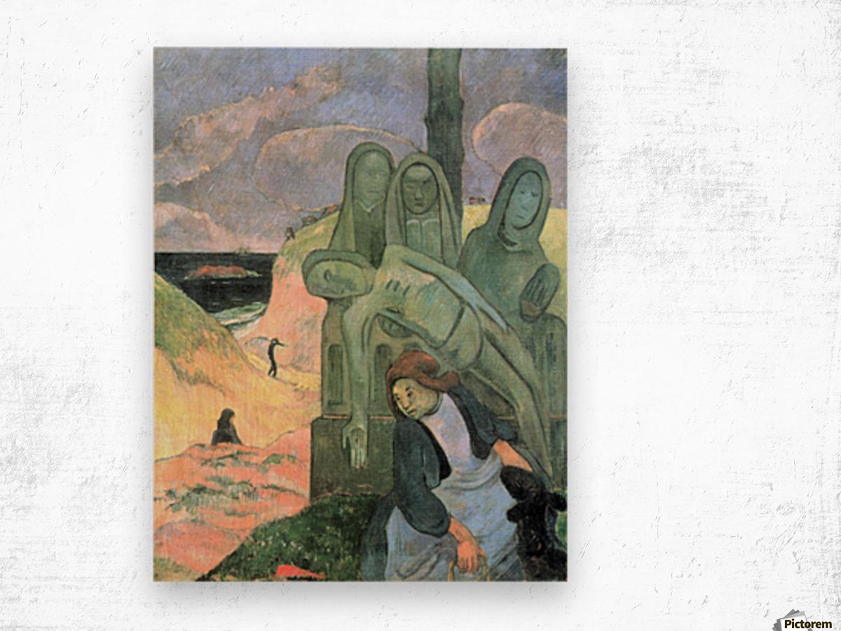 Green Christ by Gauguin Wood print