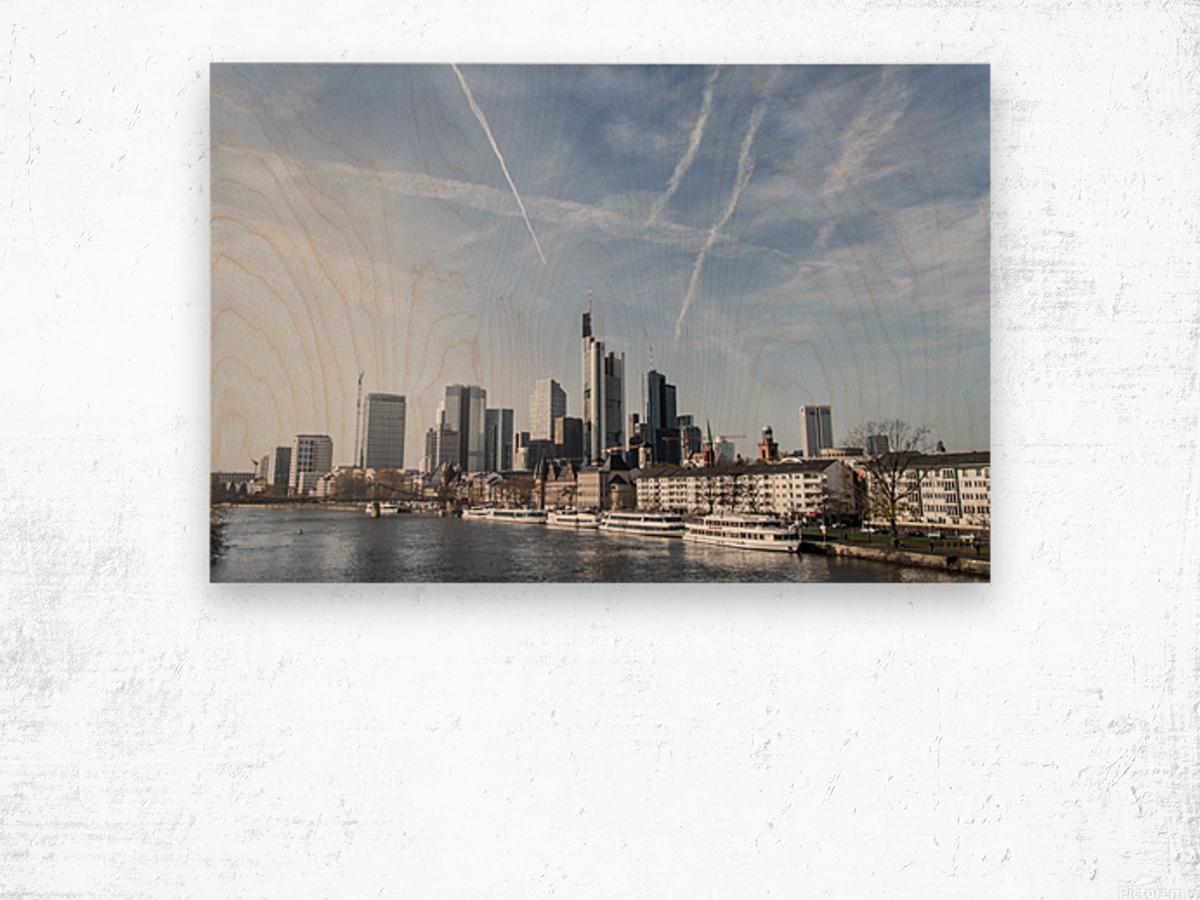 frankfurt skyscraper Wood print