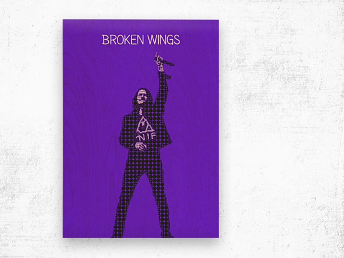 broken wings   Myles Kennedy   alter bridge Wood print