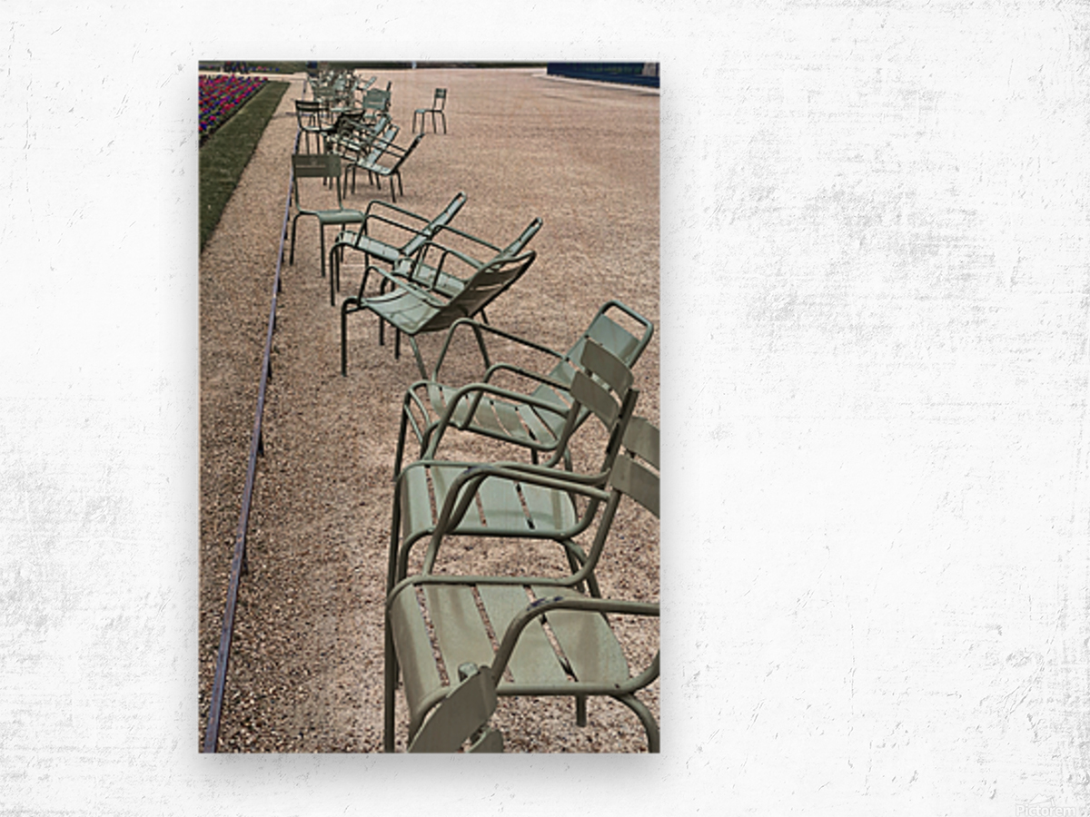 Chaises du Luxembourg   1 Wood print