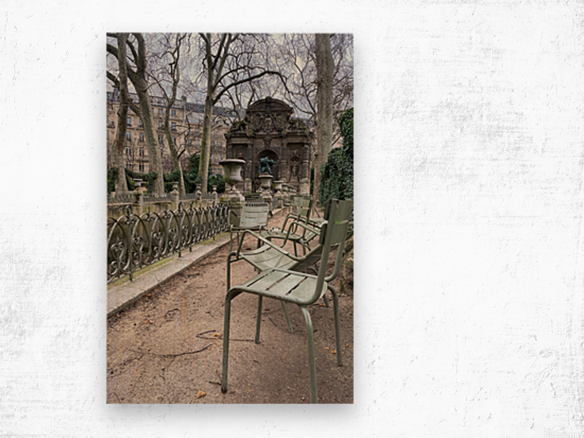 Chaises du Luxembourg   10 Wood print