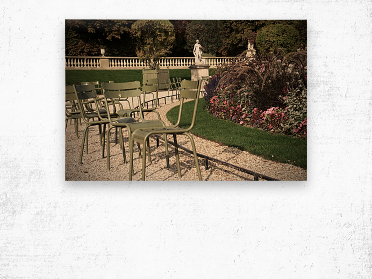 Chaises du Luxembourg   8 Wood print