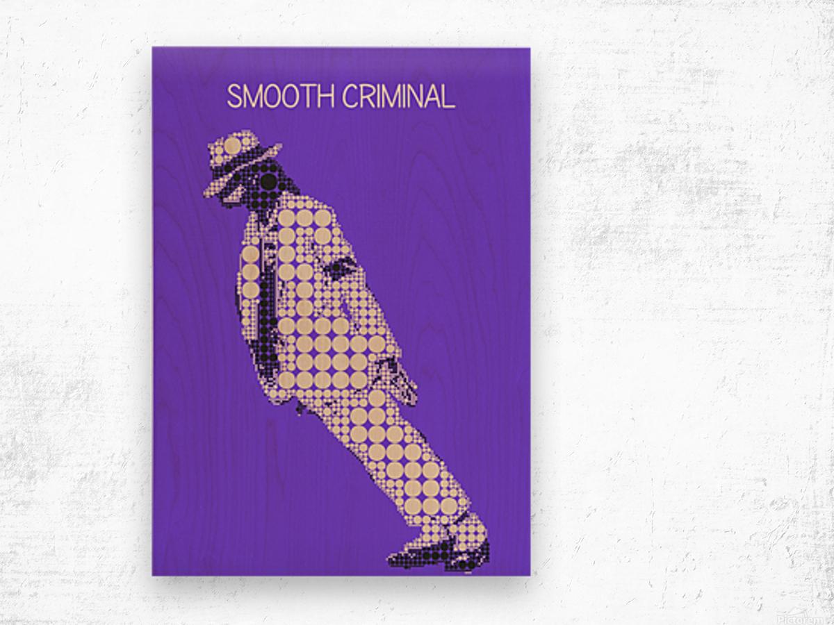 michael jackson_Smooth Criminal Wood print