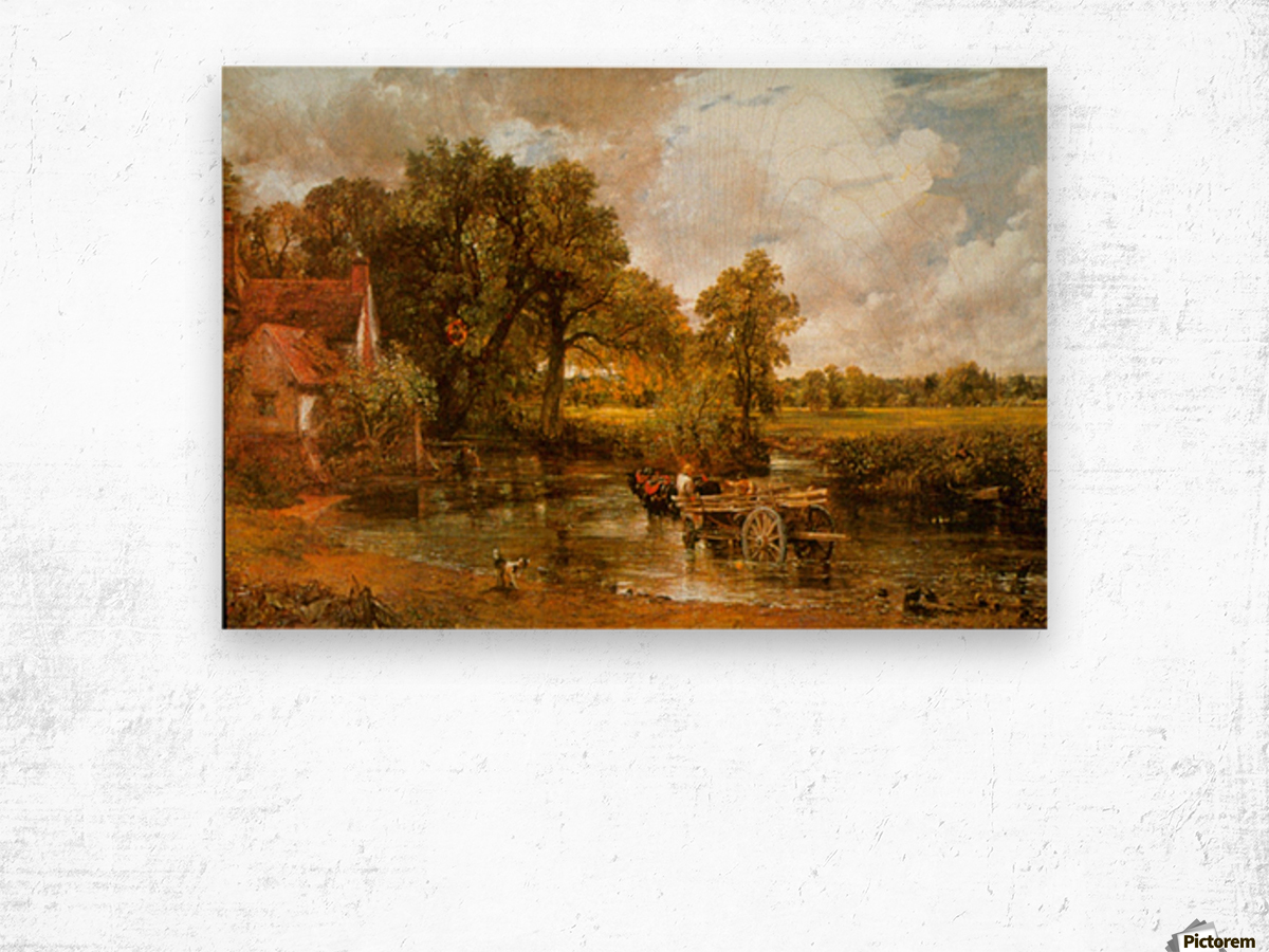 Hay Wain by Constable Wood print