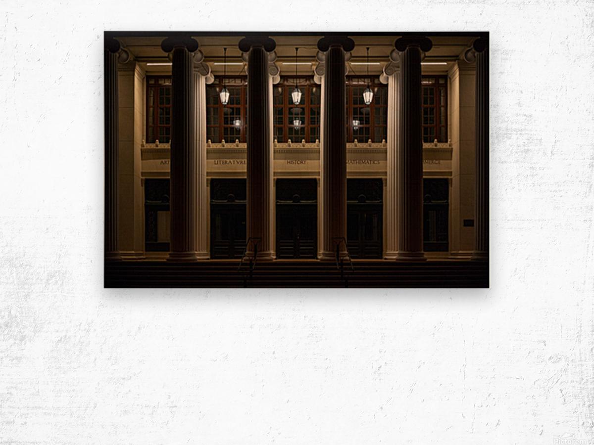 Night Pillars Wood print