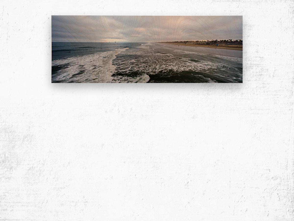 Huntington Beach Panorama Impression sur bois