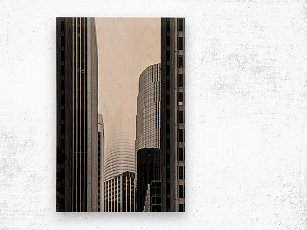 Vanishing Tower Wood print