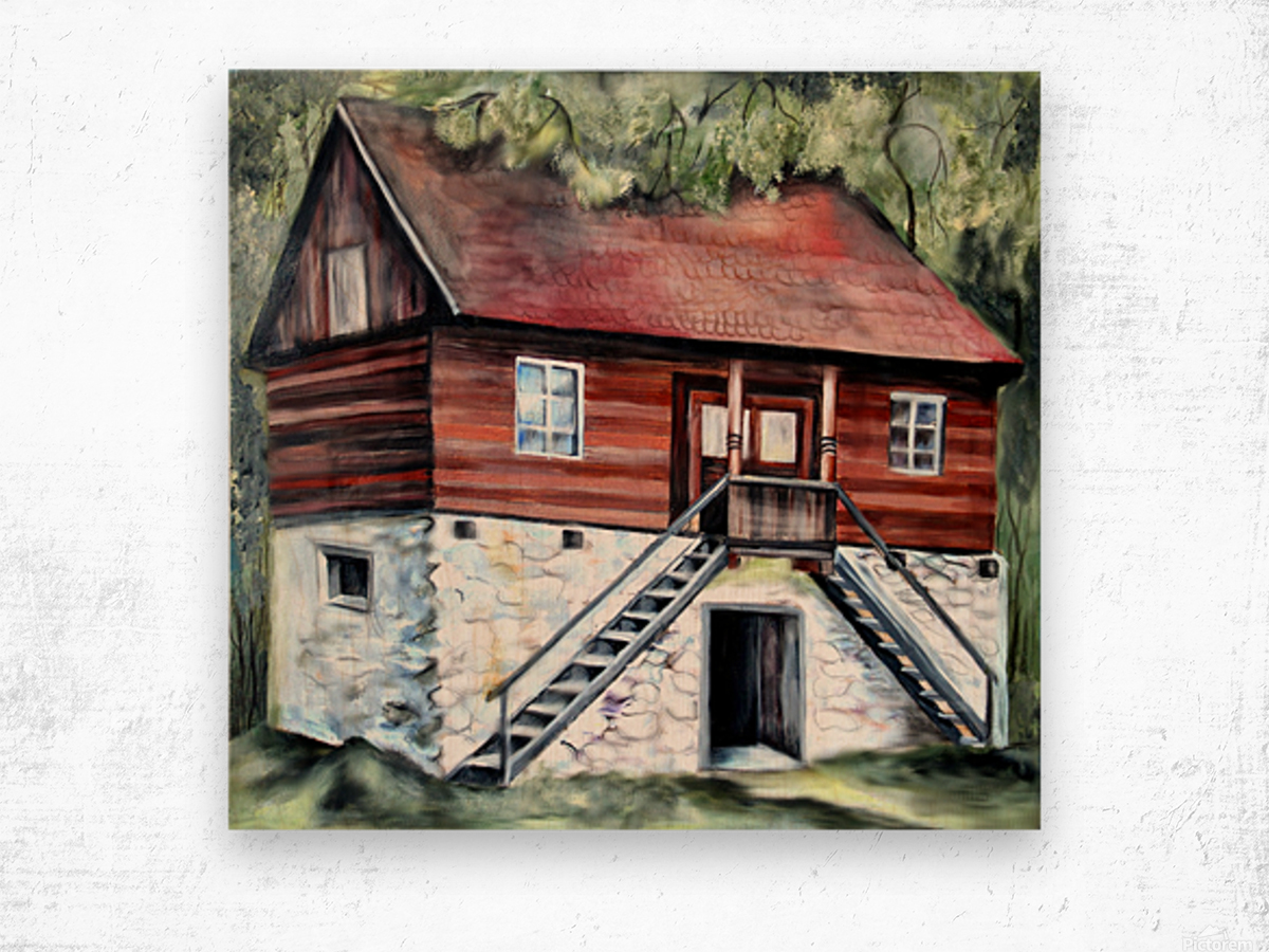 Romania Transylvania Historical Traditional House Wood print