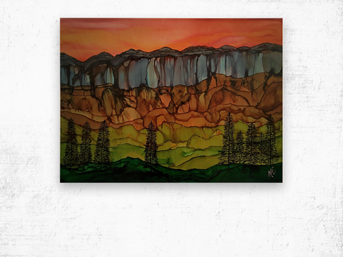 Weeping Cliffs Wood print