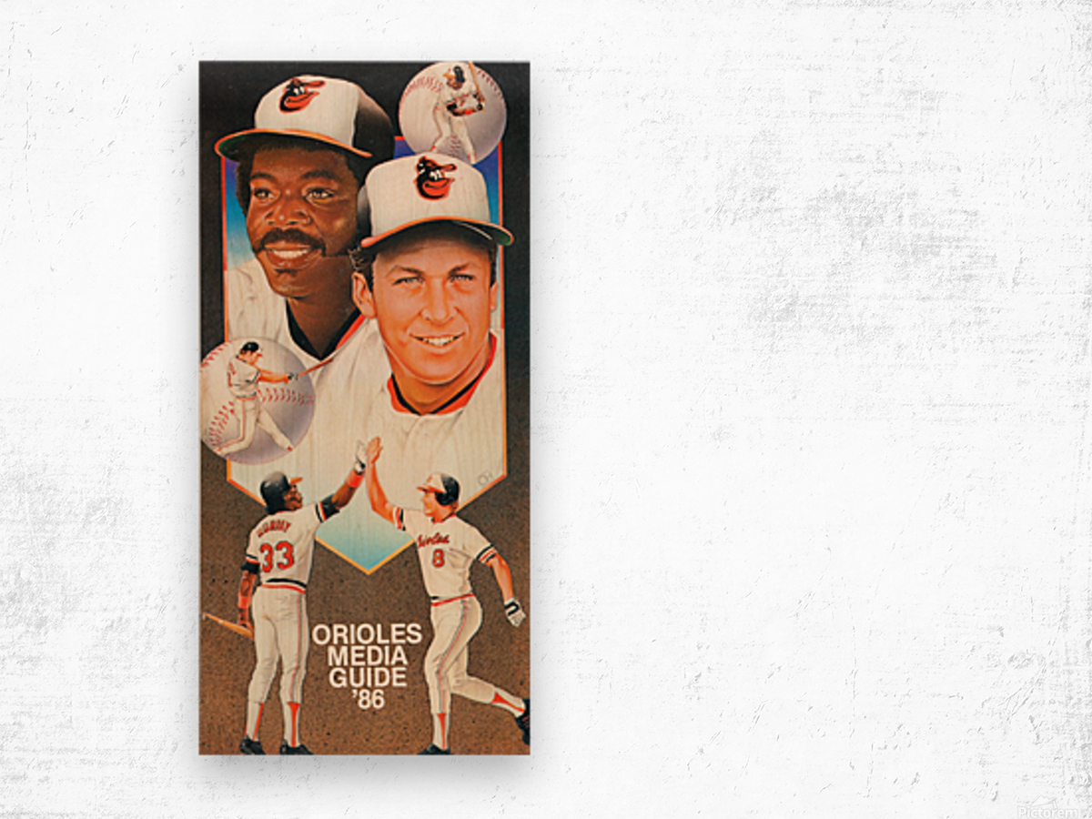 1986 Baltimore Orioles Media Guide Canvas Wood print