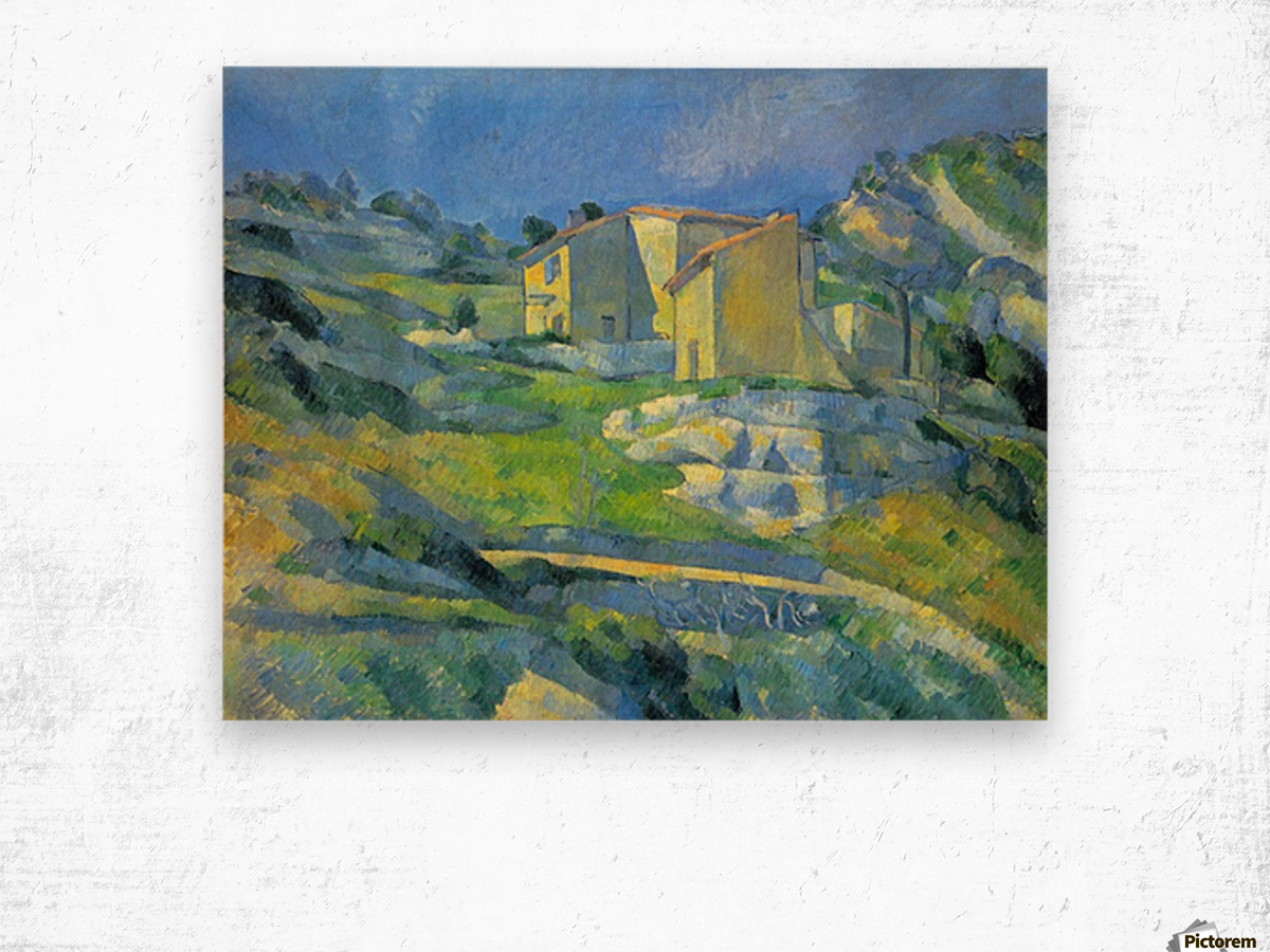 House in the Provence by Cezanne Wood print