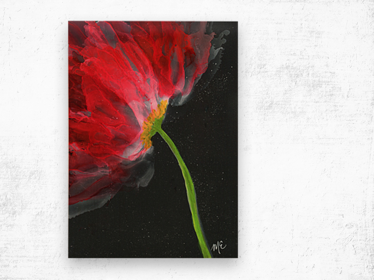 Fantastical Flower Wood print
