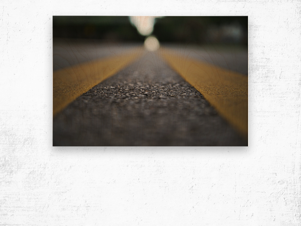 The Road Before You Wood print