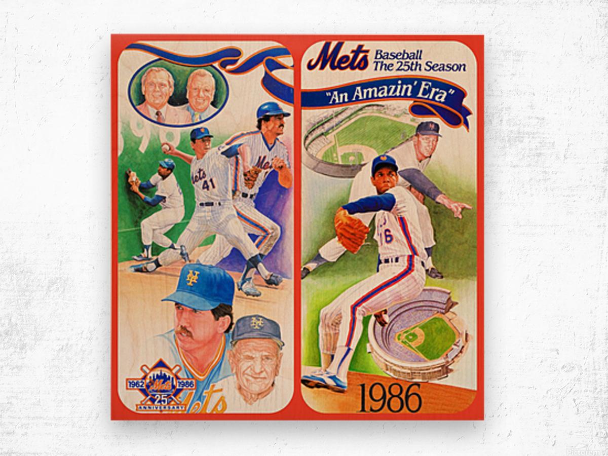 1986 New York Mets Wood print