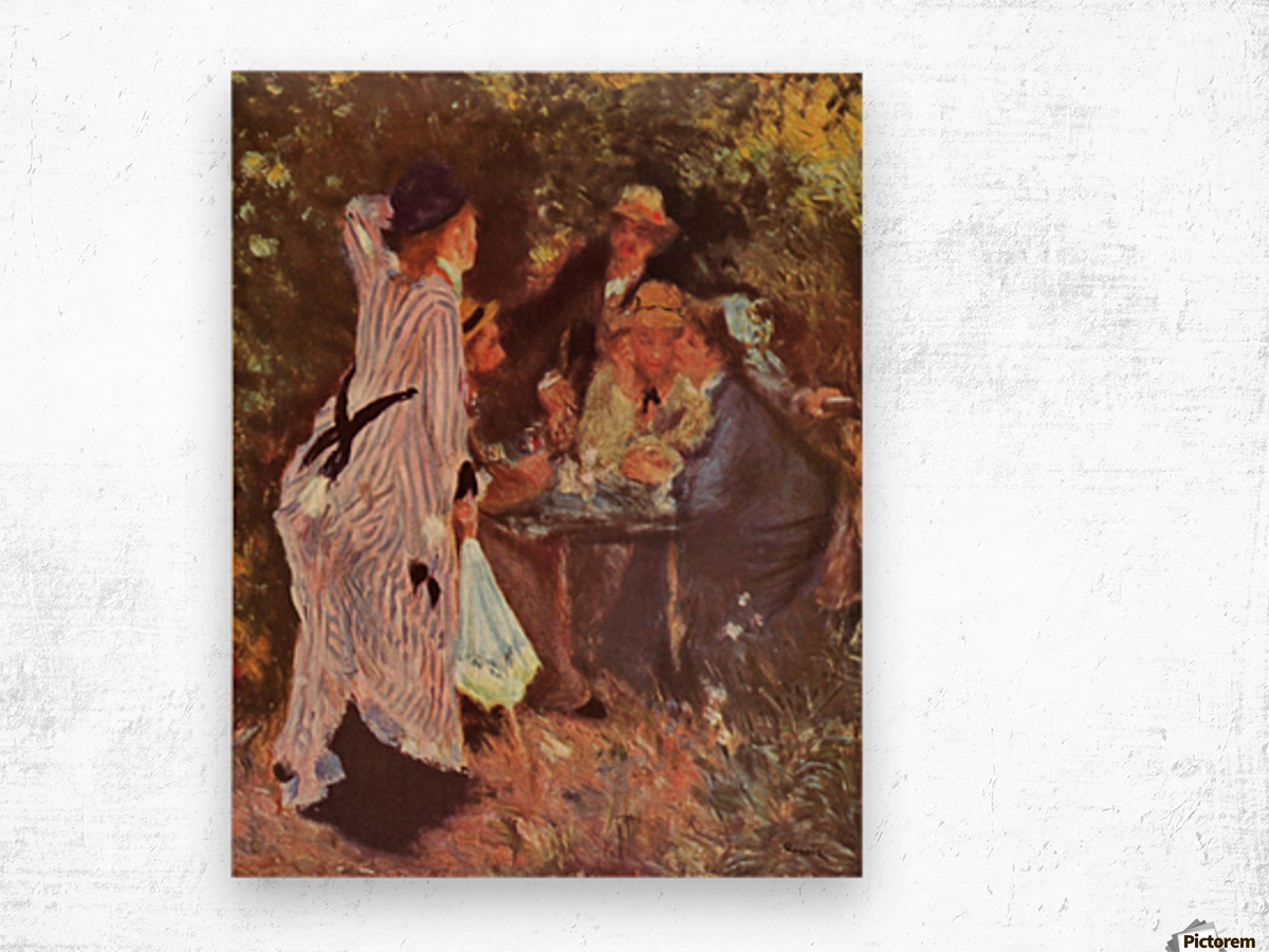 In the Garden (in the garden bower of Moulin de la Galette by Renoir Wood print