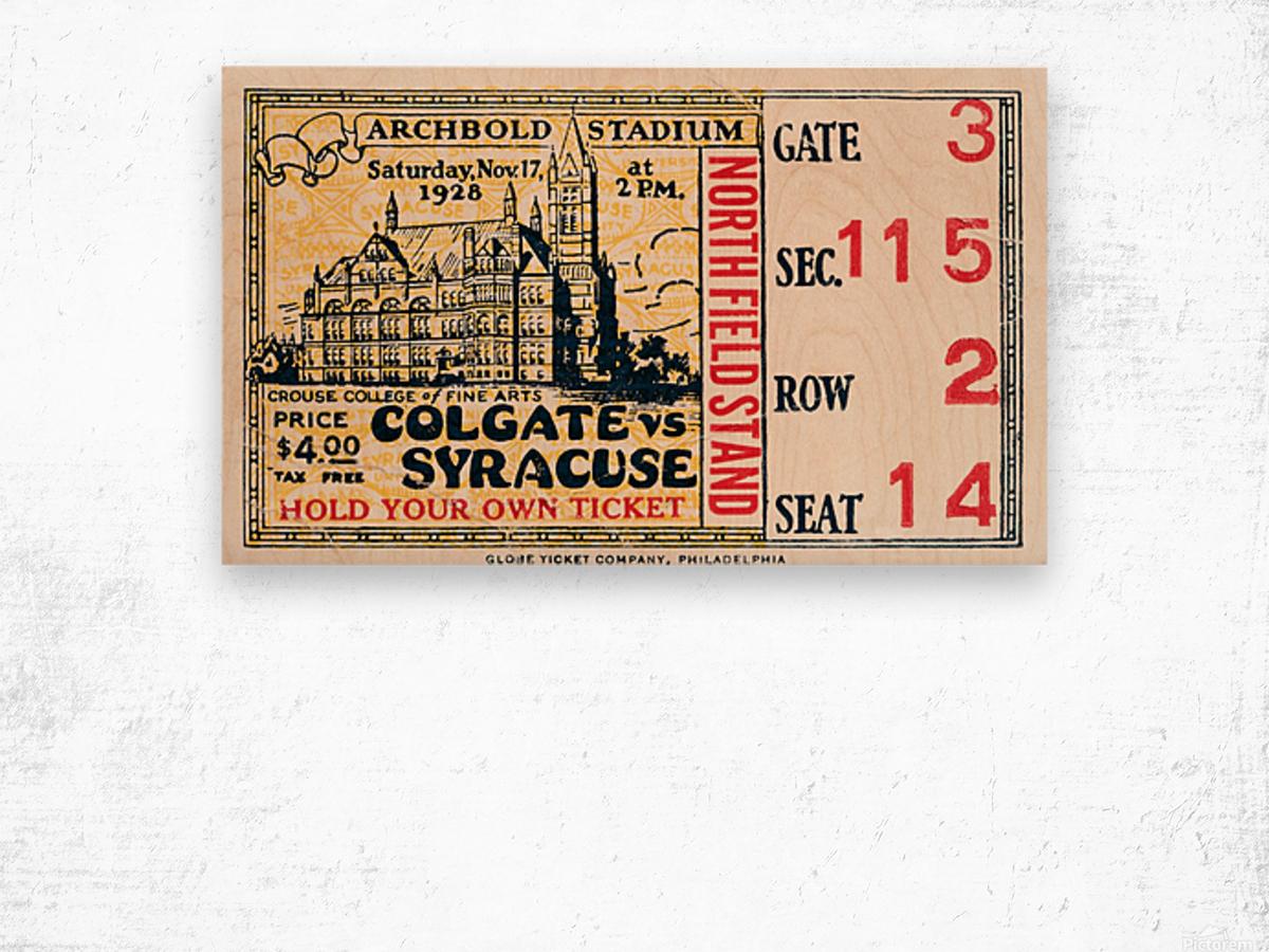 1928 Colgate vs. Syracuse Wood print
