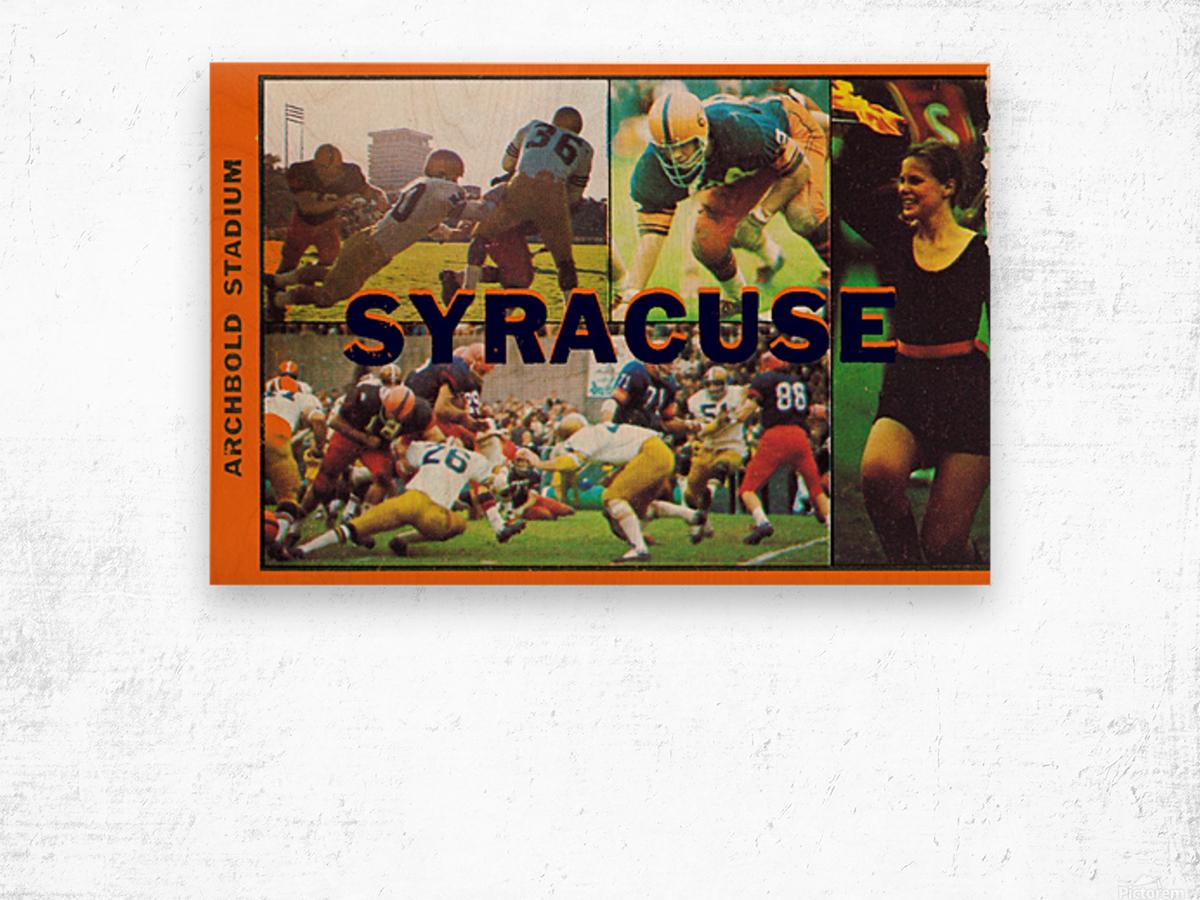 Vintage Syracuse Ticket Art Wood print